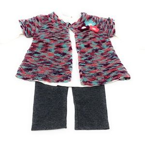 3 piece long sleeve with sweater and pants 3-6 mos